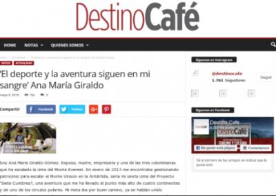 Destino Café: 'El deporte y la aventura siguen en mi sangre'