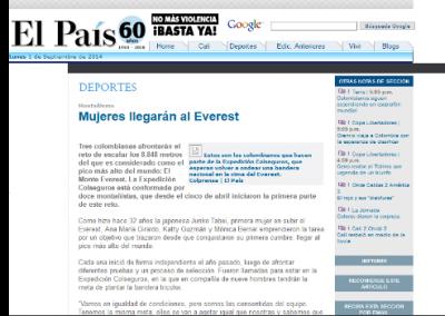 El País: Mujeres llegarán al Everest