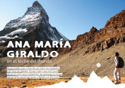 Revista SURA: Ana María Giraldo en el techo del mundo